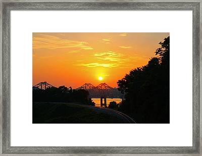 Natchez Sunset Framed Print
