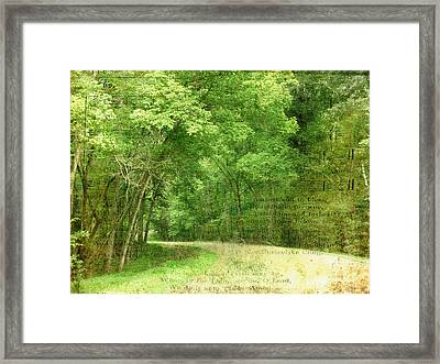 Natchez Trace Framed Print by Terry Eve Tanner