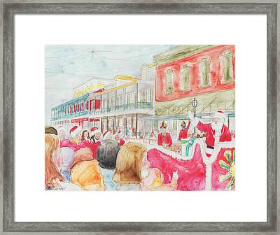 Natchitoches Christmas Parade Framed Print by Ellen Howell