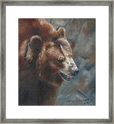 Nate - The Bear Framed Print