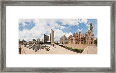 Nathan Phillips Square Toronto Framed Print