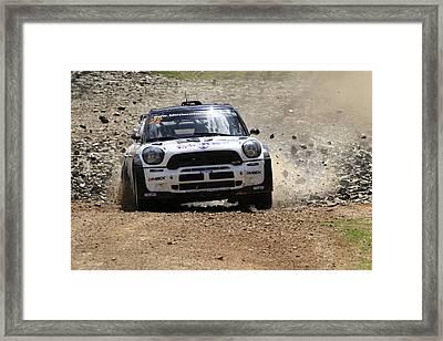 Nathan Quinn Fia World Rally Championship Australia 2013 Framed Print