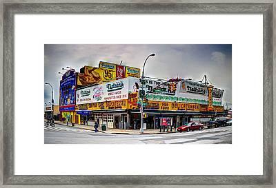 Nathans Brooklyn Ny Framed Print
