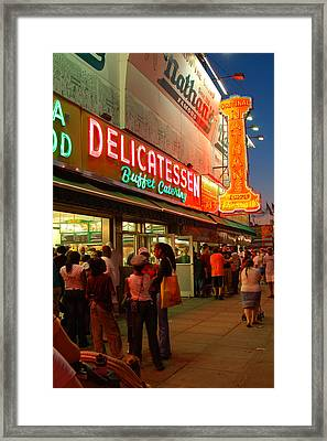 Nathans Coney Island Framed Print by James Kirkikis