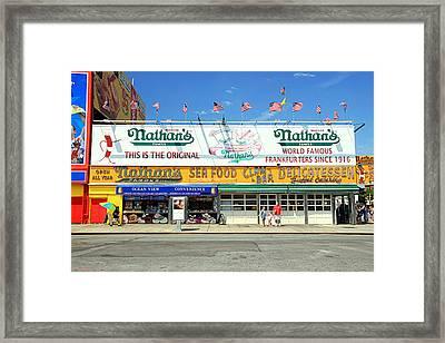 Nathan's Coney Island Framed Print
