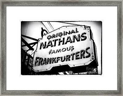 Nathans Famous Frankfurters Framed Print by John Rizzuto
