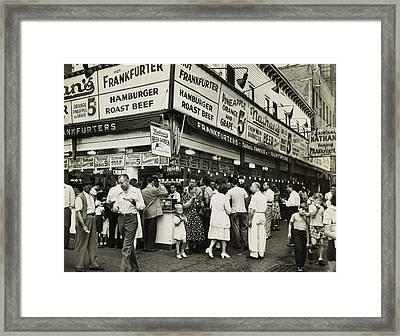 Nathan's Famous Frankfurters - Nyc 1947 Framed Print