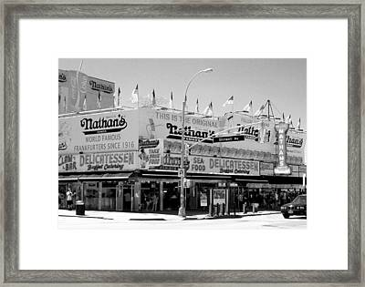 'nathan's Famous Hot Dogs' Framed Print