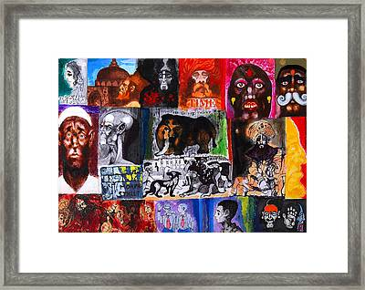 Nation Framed Print by Sumit Banerjee