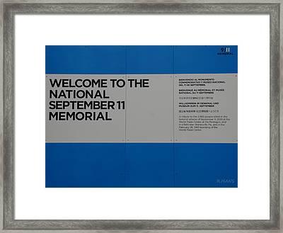 National 9/11 Memorial  Framed Print by Rob Hans