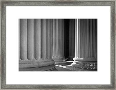 National Archives Columns Framed Print by Inge Johnsson