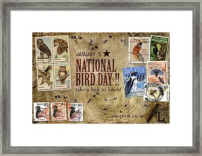 National Bird Day Framed Print by Carol Leigh