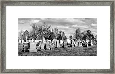 National Cemetery - Gettysburg Battlefield Framed Print by Brendan Reals
