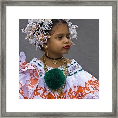 National Costume Of Panama Framed Print by Heiko Koehrer-Wagner