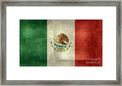 National Flag Of Mexico Framed Print by Bruce Stanfield