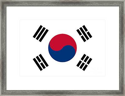 National Flag Of South Korea Authentic  Framed Print