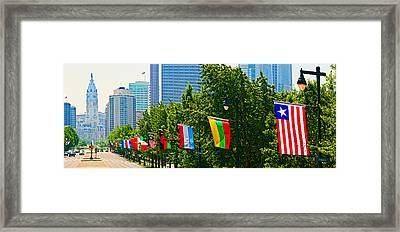 National Flags Of The Countries Framed Print by Panoramic Images