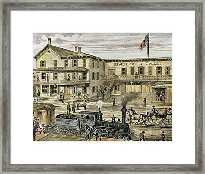 National Hotel  Warwick, 1875 New York Framed Print by Prisma Archivo