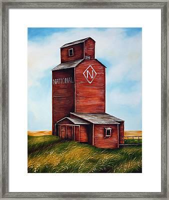 National Framed Print by Kristina Steinbring