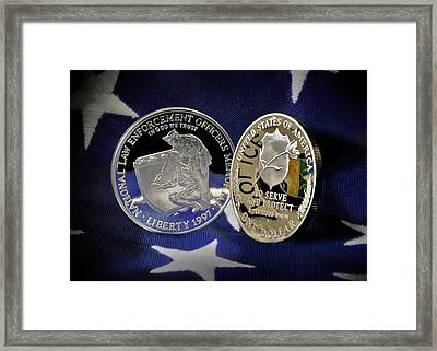 National Law Enforcement Memorial Mint Framed Print by Gary Yost