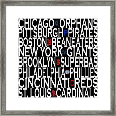National League Classic Eight Framed Print by Andrew Fare