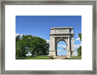 National Memorial Arch At Valley Forge Framed Print by Olivier Le Queinec