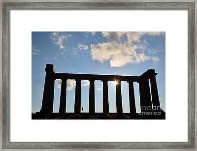 National Monument Of Scotland In Edinburgh Framed Print