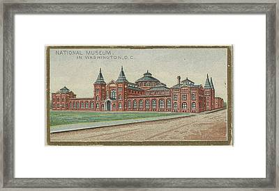 National Museum In Washington Framed Print by Issued by Allen & Ginter