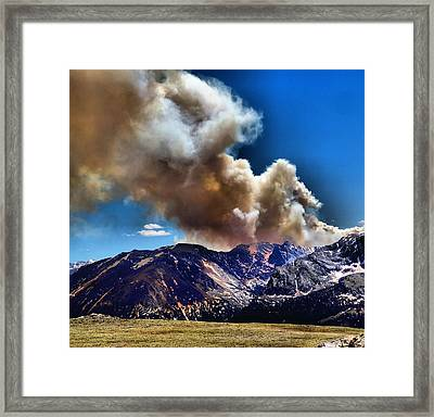 National Park Fire Framed Print by Dan Sproul