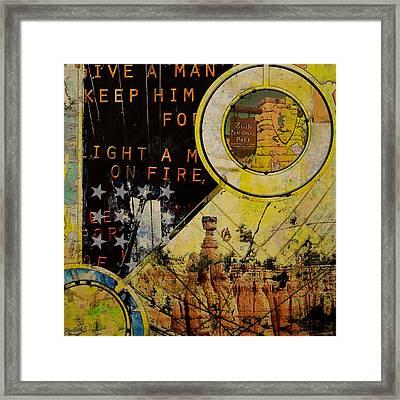 National Park Zion Framed Print