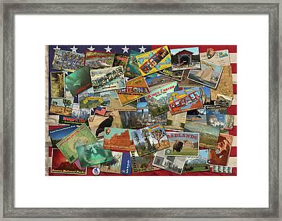 National Parks Flag Framed Print by Garry Walton