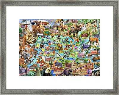 National Parks Of America Framed Print by Adrian Chesterman