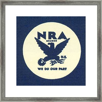 National Recovery Act Symbol Framed Print by Underwood Archives