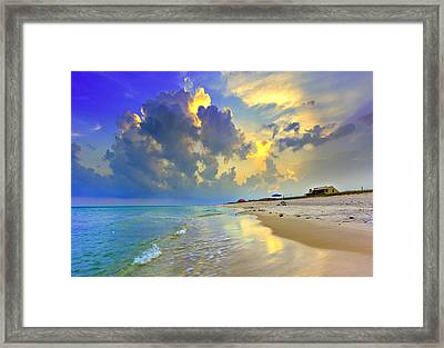 National Seashore Navarre Pensacola Beach Florida Blue Sunset Art Prints Framed Print