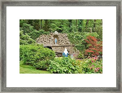 National Shrine Grotto Of Our Lady Of Lourdes Framed Print