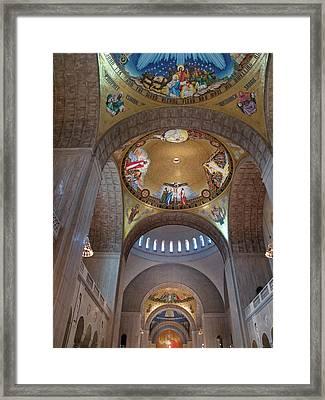 National Shrine Interior Framed Print by Barbara McDevitt