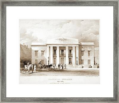 National Theatre, New York. J.w. Wallack Framed Print
