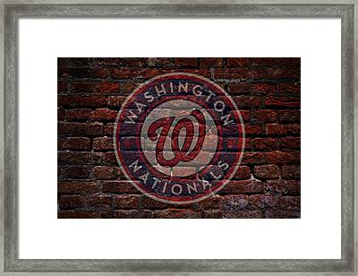 Nationals Baseball Graffiti On Brick  Framed Print by Movie Poster Prints