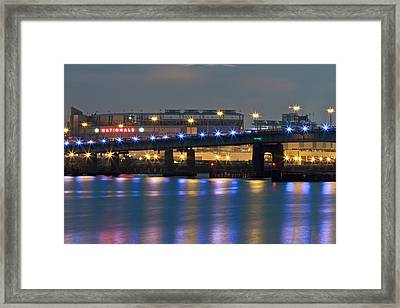 Framed Print featuring the photograph Nationals Park by Jerry Gammon