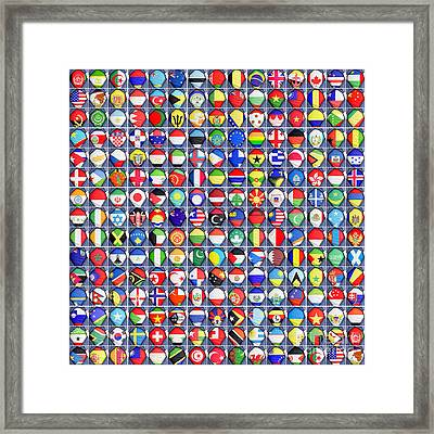 Nations United Framed Print by Antony McAulay