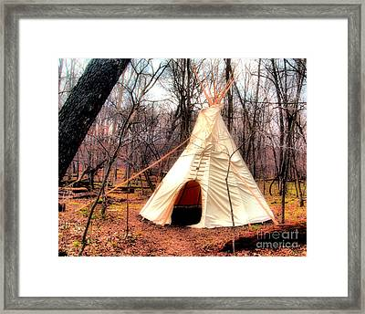 Native American Abode Framed Print