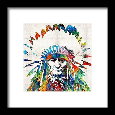 Cherokee Framed Prints