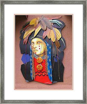 Native American Artwork Framed Print by Dora Sofia Caputo Photographic Art and Design