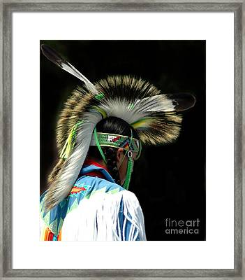 Native American Boy Framed Print by Kathleen Struckle