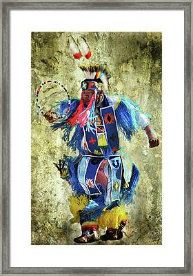 Framed Print featuring the photograph Native American Dancer by Barbara Manis