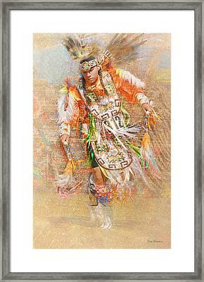 Native American Dancer Framed Print by Dyle   Warren