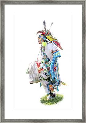Native American Dancer Framed Print by Ramona Murdock