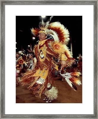 Native American Dancing Framed Print
