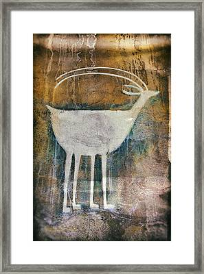 Native American Deer Pictograph Framed Print