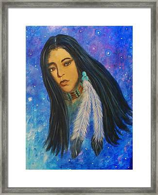 Native American Female Framed Print by The Art With A Heart By Charlotte Phillips